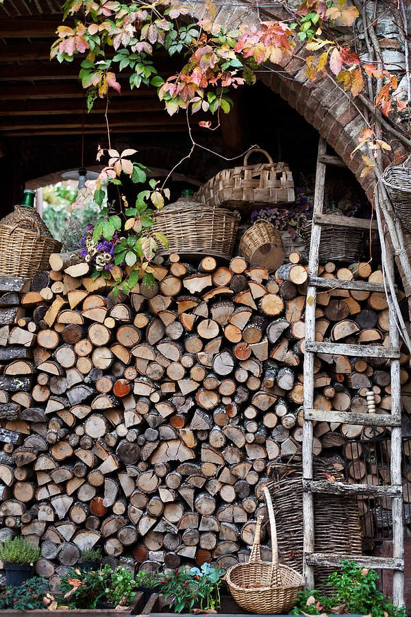 storing & drying the wood .. you can almost smell that wood fire burning.. aah