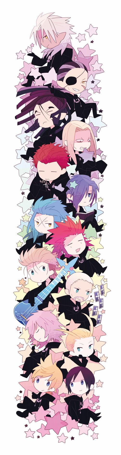 Awwww. Chibi Organization XIII, Kingdom Hearts 358/2 Days ...this would make an excellent bookmark