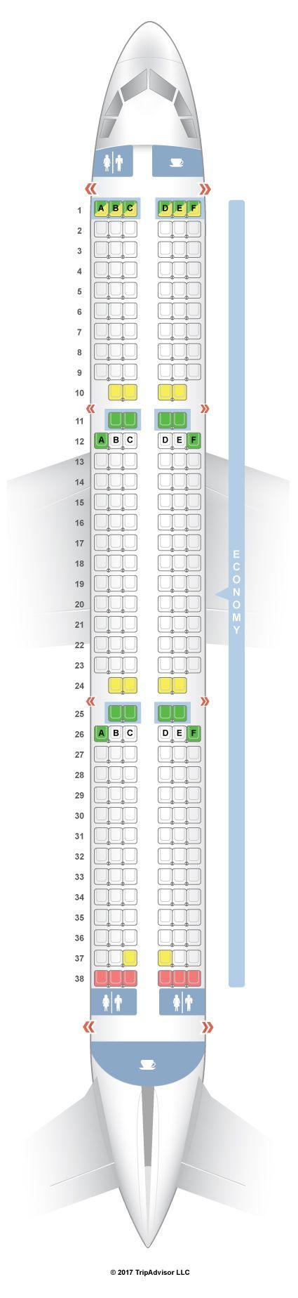SeatGuru Seat Map WOW air Airbus A321 (321) V2 - SeatGuru