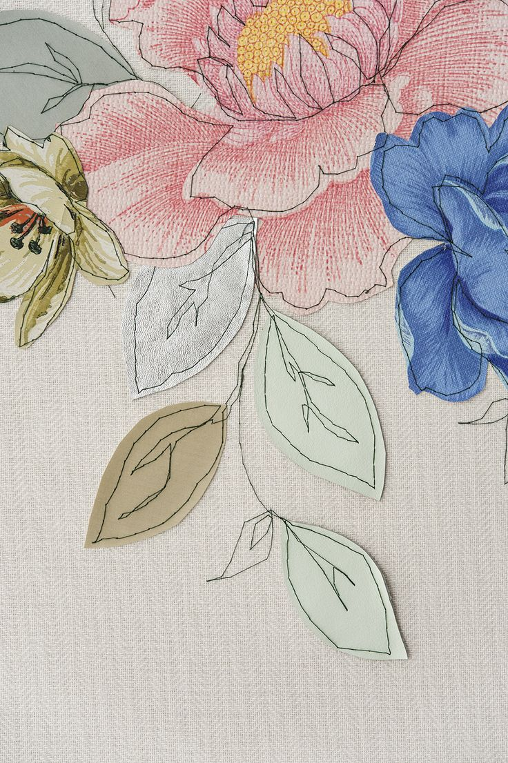 Claire Coles : embroidered wall panel