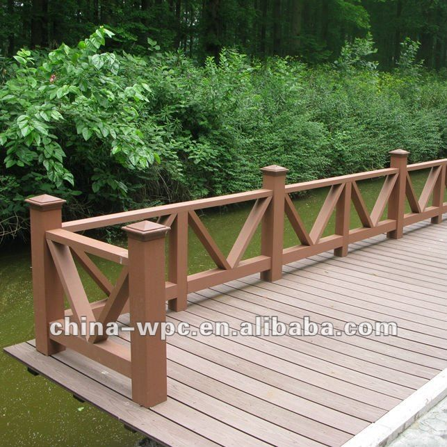 Pasamanos de madera para outdoor cubierta