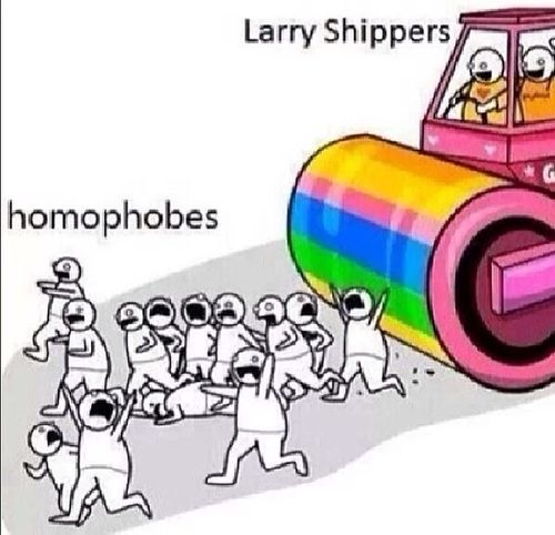Larry Shippers cartoon || Is it weird that i love this? | I'm not even sorry. This is great.