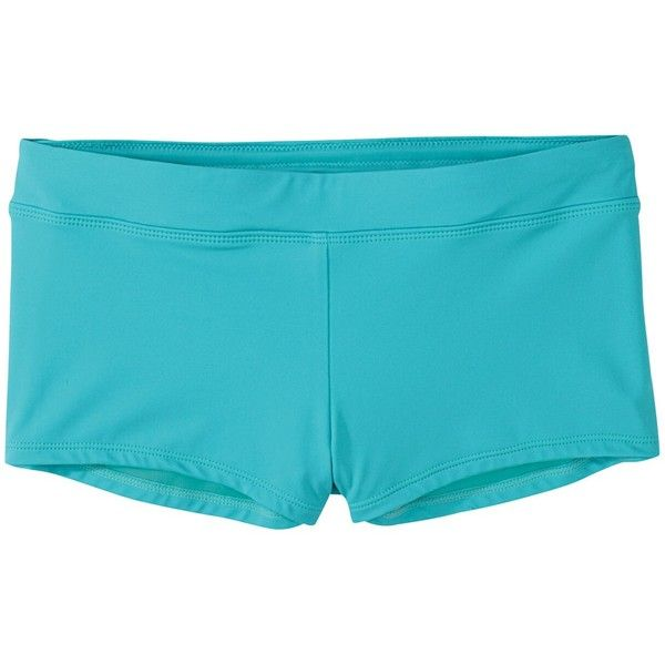 Title Nine  Boy Brief Swim Shorts - Solid ($52) ❤ liked on Polyvore featuring swimwear, bikinis, bikini bottoms, green, hipster swimwear, swim wear, green swim trunks, hipster bikini bottom and green bikini bottoms