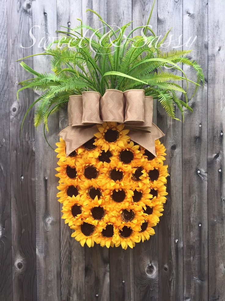 Pineapple Sunflower Wreath Sweet And Sassy Creations By