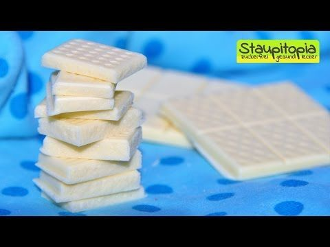Schokolade selber machen: 5 Minuten - 3 Zutaten - 0 Zucker! Weiße Schokolade OHNE Zucker herstellen - YouTube
