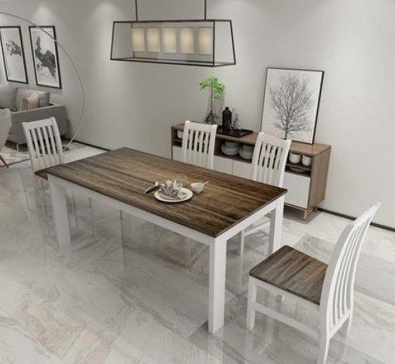 Large Kitchen Table With 4 Chairs Set This Wooden Dining Table Set