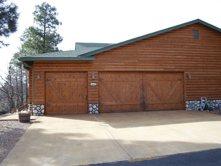 Wooden Barn style garage door design ideas