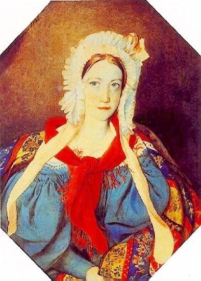 Княжна Прасковья Петровна Вяземская (1817 – 1835), дочь кн. Петра Андреевича Вяземского (1792 – 1878) и Веры Фёдоровны, ур. кнж. Гагариной (1790 – 1886).