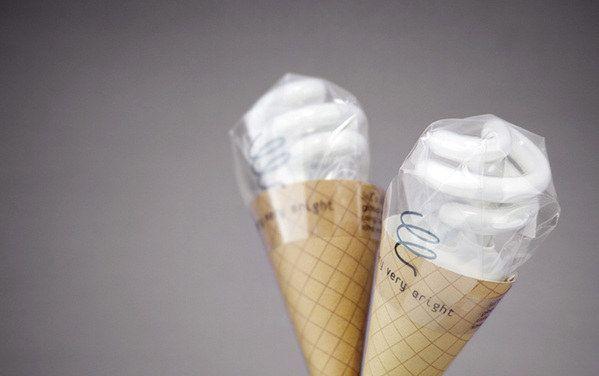 Estas bombillas con forma de helado. | 34 Empaques increíblemente lindos que necesitas ver