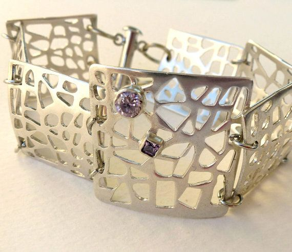 Geometric Sterling Silver Bracelet Dreamy by GeorgiaCollection, €140.00