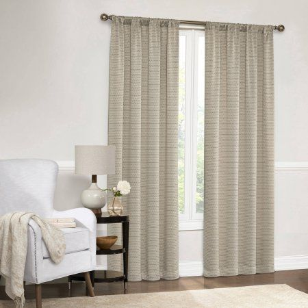Mainstays Dotted Room Darkening Curtain Panel in Multiple Sizes and Colors, Yellow