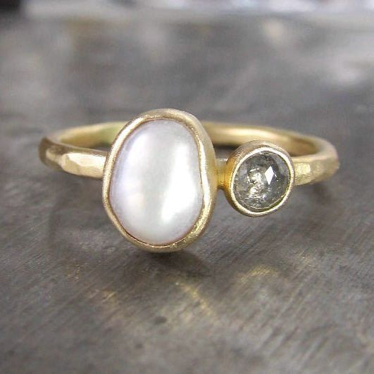 Pearl and diamond ring. This would be a my dream graduation present!