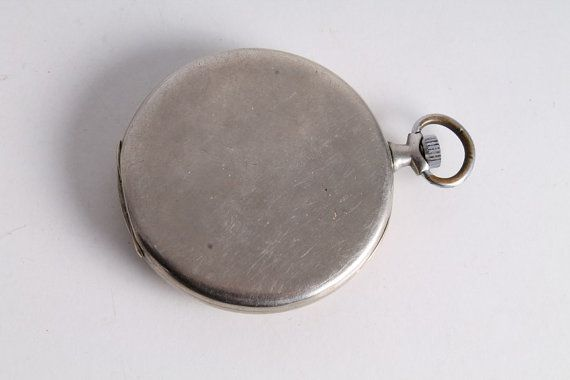 Antiguo antiguo Suizo Omega hecho cara Pocket Watch.