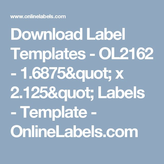 2 125 x 1 6875 label template - the 25 best label templates ideas on pinterest