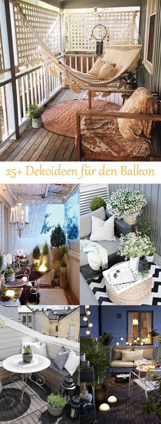 DIY-Deko-Ideen für Ihr Zuhause – schmücken Sie den Balkon #Balkon #dekorieren …