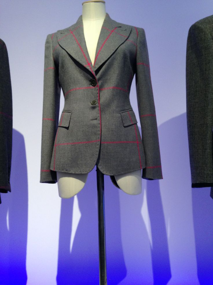 Women's Wool Exaggerated Window Pane Check Jacket A/W 2007