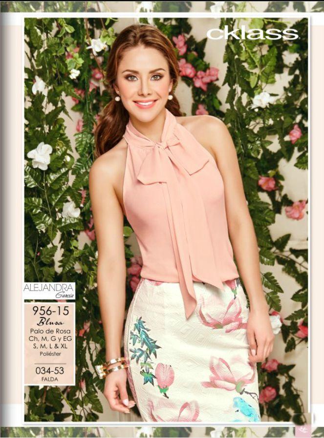 Blusa sin mangas con coqueto detalle de lazo en el frente, moda mujer 2016