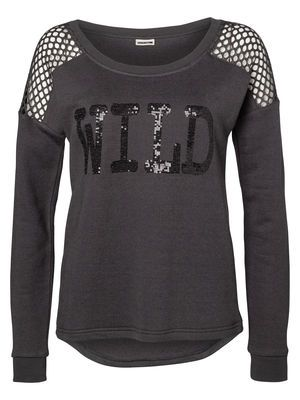 WILD L/S SWEAT - NM, Asphalt, main