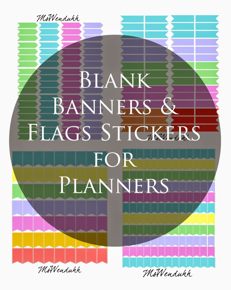 MsWenduhh Planning & Printing: Blank Banners & Flags Stickers Download: