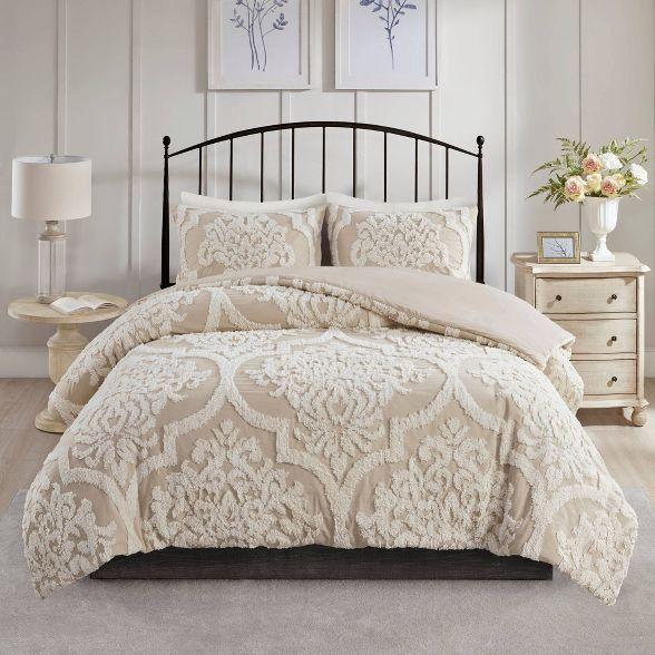 Eugenia Tufted Chenille Duvet Cover Set Comforter Sets Duvet Cover Sets California King Duvet Cover