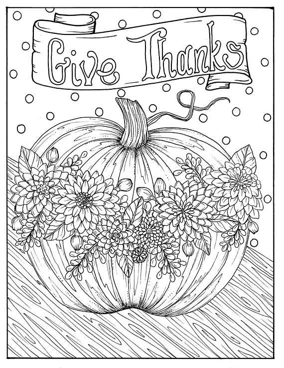 Give Thanks Digital Coloring Page Thanksgiving Harvest Etsy In 2021 Thanksgiving Coloring Pages Fall Coloring Pages Free Thanksgiving Coloring Pages