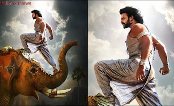 Baahubali 2 new poster: Prabhas stands on the head of a beast. See this awe-inspiring pic
