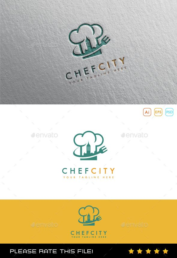 Chef Logo - Download : https://graphicriver.net/item/chef-logo/10054451?ref=pxcr
