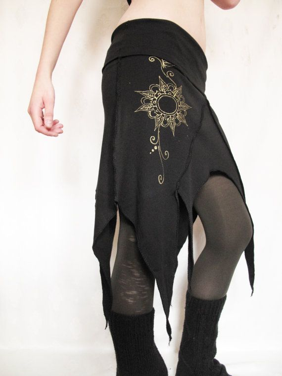 Pixie skirt. Festival. Goa. handmade by AbstractikaCrafts on Etsy, £28.00