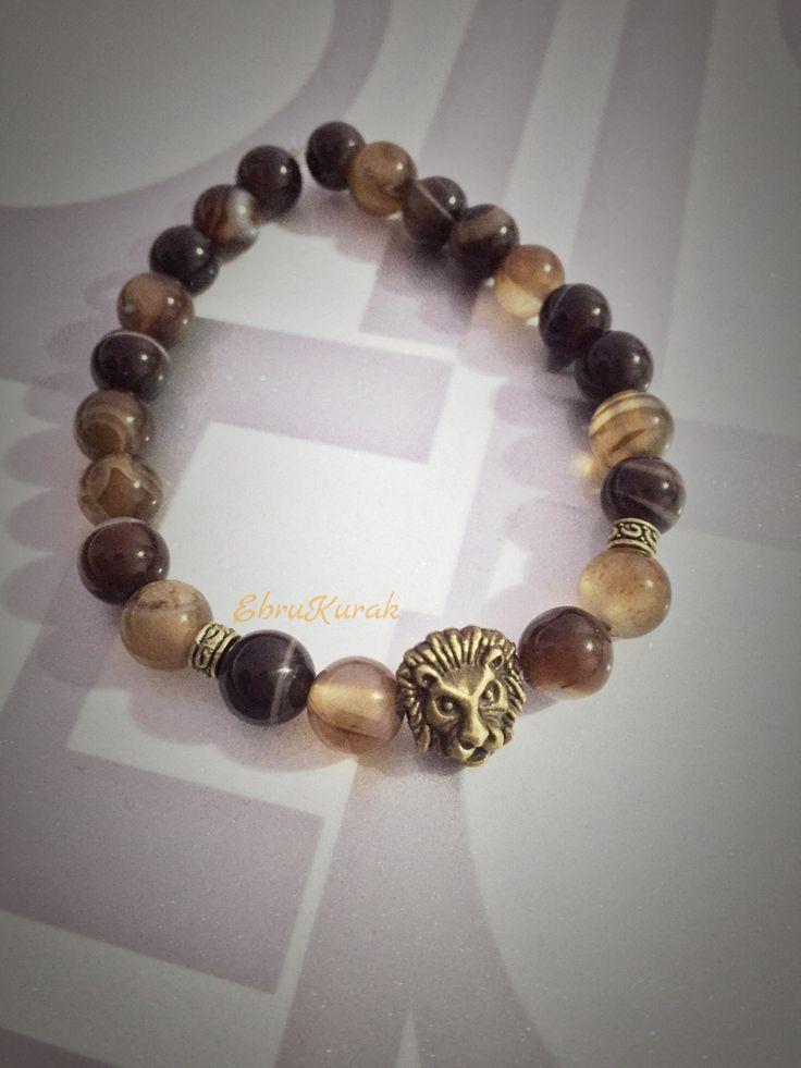 Takı Tasarım , Erkek Bileklik , Akik , Doğl Taş , Şifalı Taş , Natural Stone , Bracelet , Wristband ,