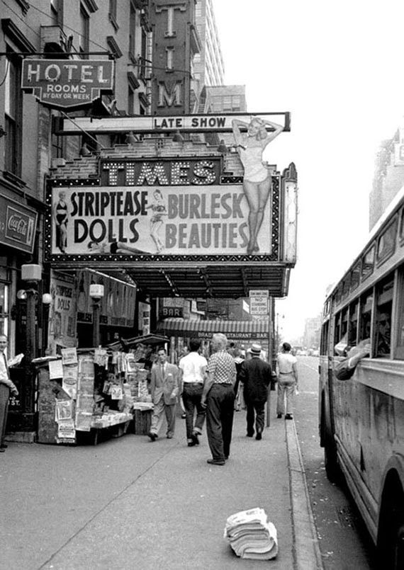 Times Square Burlesque Club 1955