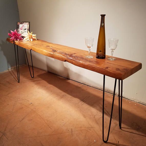 Hairpin Leg Reclaimed Wood Console Table Sofa Table Entry Hall Entry Table Decor Natural Wood Table Reclaimed Wood Console Table