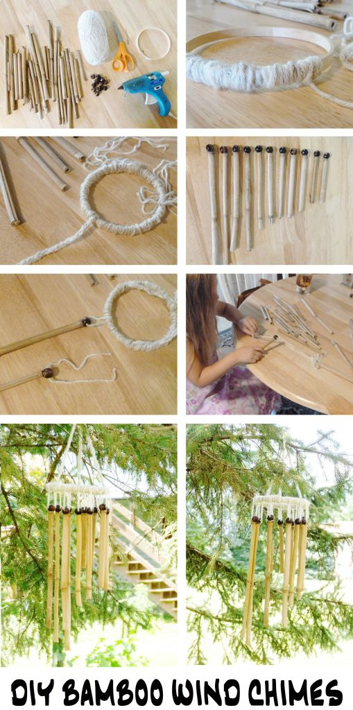These Bamboo Wind Chimes are a fun DIY craft to do with kids! Get the tutorial from Bo Peep's Bonnets!