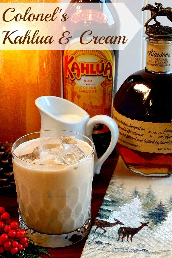 Colonel's Kahlúa & Cream by WickedGoodKitchen.com ~ Irresistible twist on classic Kahlúa & Cream…with Bourbon! Dairy free and vegan option.