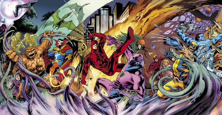 Thing, Doctor Strange, Daredevil, Wolverine and ClanDestine by Alan Davis