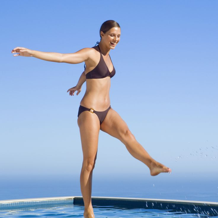 Escape the Heat With This Full-Body Pool Workout (No Swimming Required!)    Fitness Tips for Beginners  www.fitsugar.com/beginner-fitness-tips?page=1
