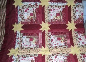 Log Cabin Star Quilt Pattern In Miscellaneous   Compare Prices