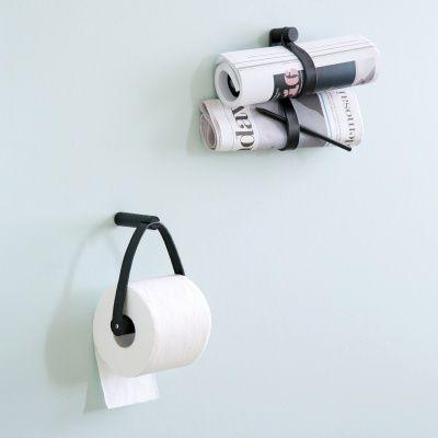 Toilet paper holder toalettrullehållare, svart ek – by Wirth – Köp online på Rum21.se