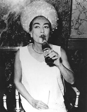 Joan Crawford, and her Pepsi, 1960's.