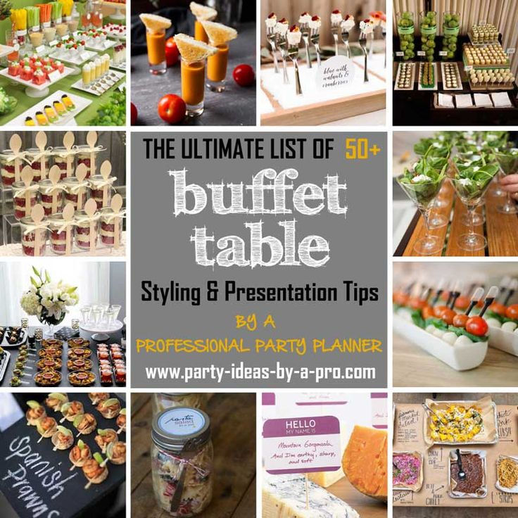 learn how to set up a buffet table food station for parties weddings or entertaining at home food presentation display and styling tips by a