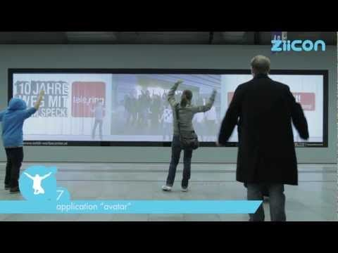 """World´s first gesture tracking system life on the market """"ZIICON"""" - Interactive Digital Signage"""
