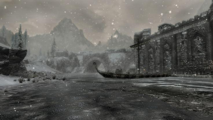 Vídeo Game The Elder Scrolls V: Skyrim  The Elder Scrolls Skyrim Vídeo Game Snow Winter Construção Papel de Parede