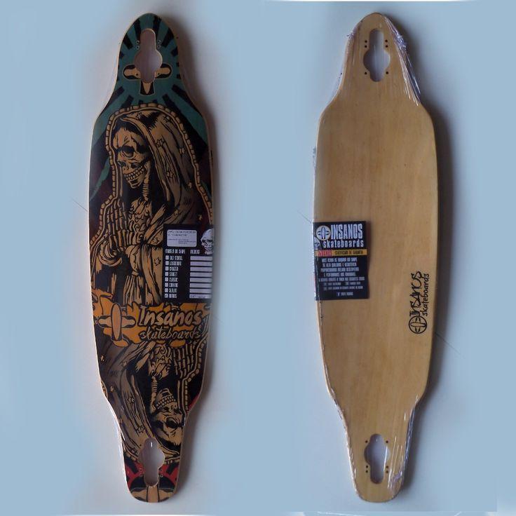 Shape Skate Longboard Dropthrough Insanos 38 - R$ 136,00 no MercadoLivre