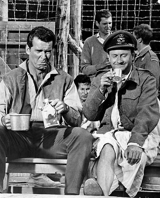 James Garner and Donald Pleasence --  The Great Escape
