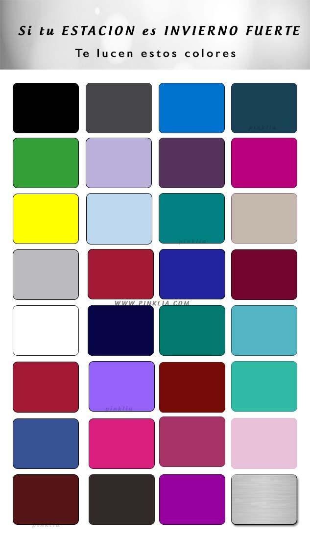 Tabla de colores para mujeres de estación invierno fuerte  http://wp.me/p1WwjW-2b2