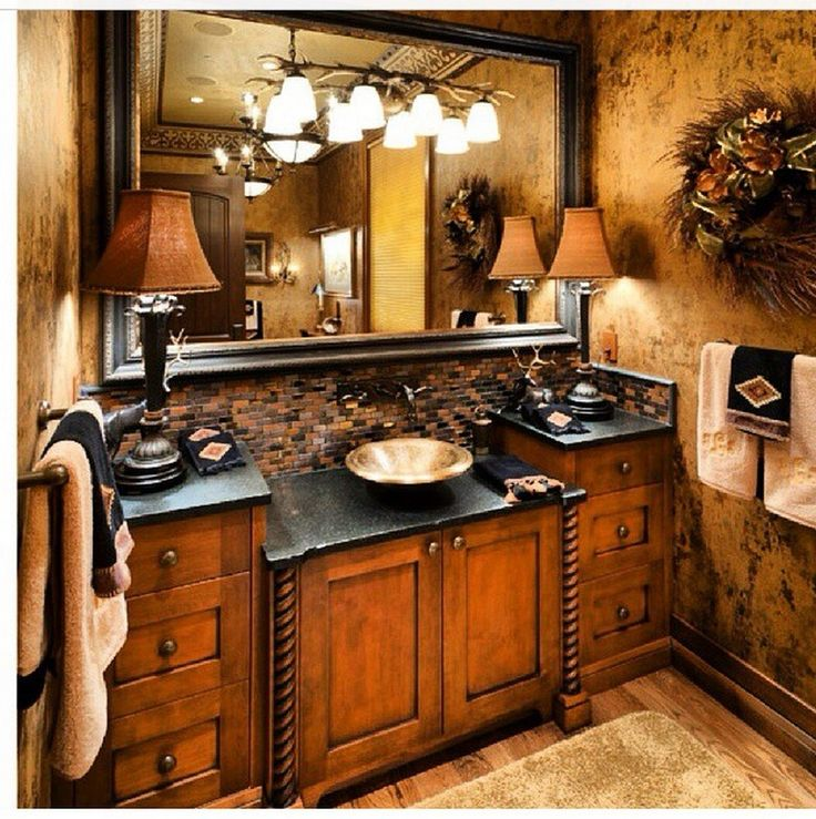 Tuscan bathroom decor (8)