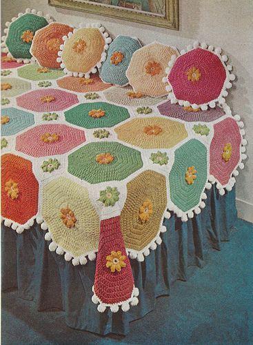 Vintage crochet spread  Image from   HomeDeconomics Flickr photostream