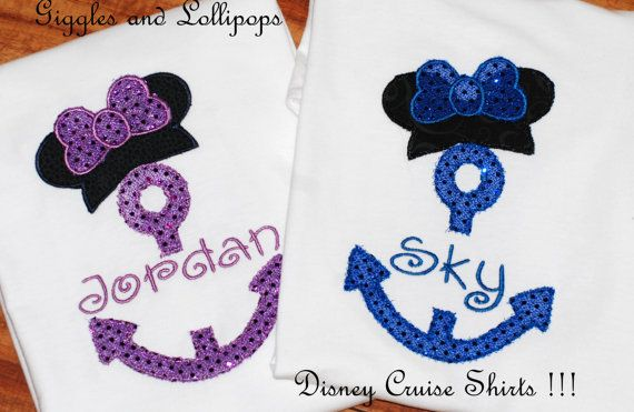 Girls personalized Disney Cruise with by GigglesandLollipops, $23.00