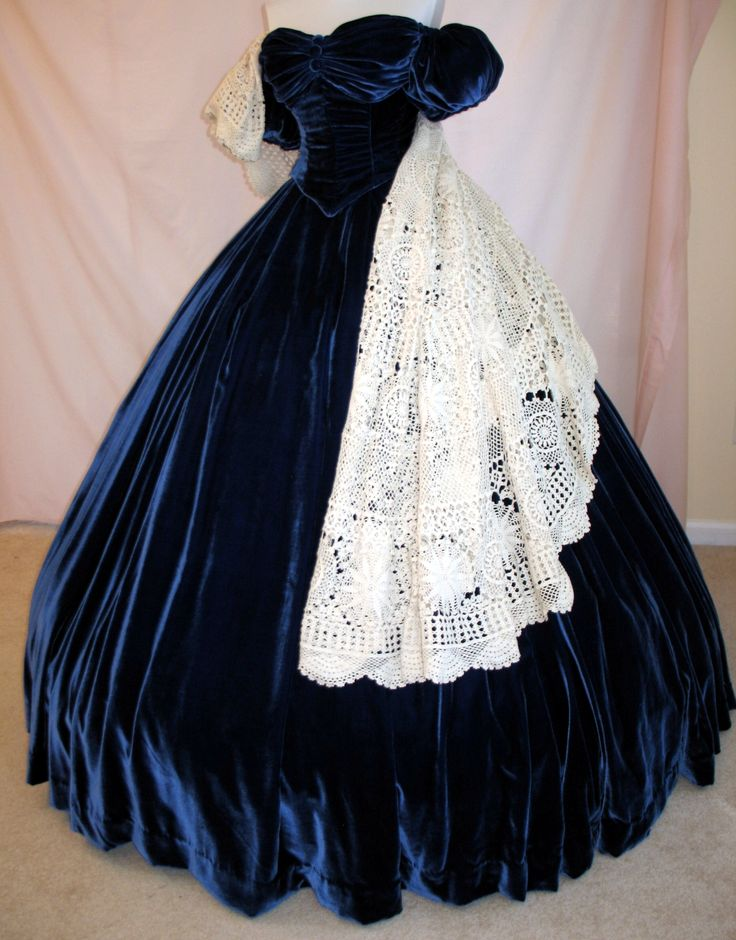 blue portrait dress from Gone With The Wind