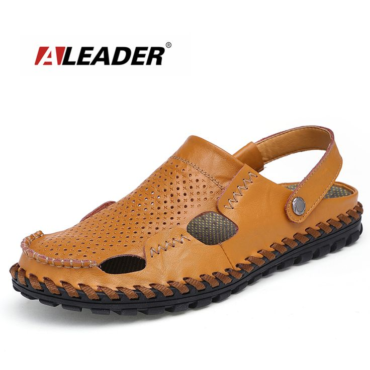 Aleader Fashion Men Beach Sandals New 2016 Casual Summer Men Shoes  Breathable Walking Sandals For Men