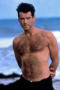 Pierce Brosnan... real men have chest hair